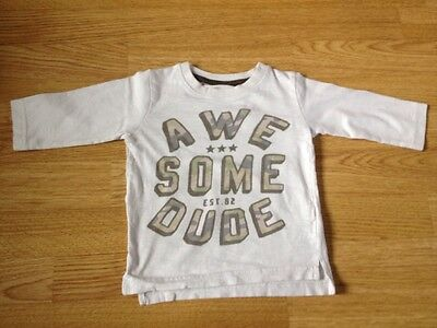 Next Baby Boys Long Sleeved Top Awesome Dude Camouflage Print 6-9 Months