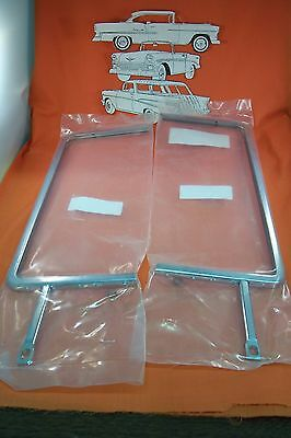 1955 1956 1957 Chevy Vent Window  Wing Window Chrome  Belair Sedan Made In USA