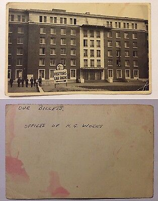vintage postcard, Army billets, HG Works, unknown location, rp