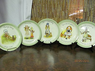 """Holly Hobbie American Greetings Collectors Edition Plates Lot of 5 10 1/2"""""""