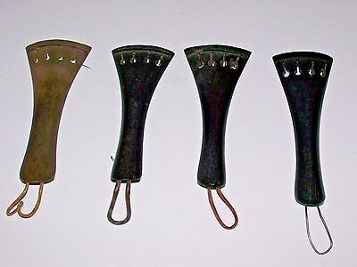 4 Vintage Violin / Fiddle Tailpieces Free Shipping