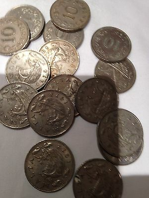 Joblot of 16 x 10 CENT Malta Coins - see all pictures!