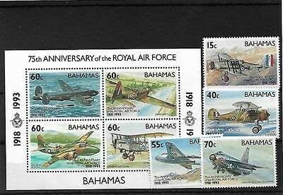 Bahamas Royal Air Force, Mnh, Sg957/960 & Ms961, Cat £17+