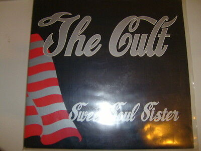 "Original The Cult Sweet Soul Sister 12"" Single Vinyl Used Good 1989"
