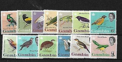 Gambia 1963 Birds, Mnh, Sg193/205, Cat £85