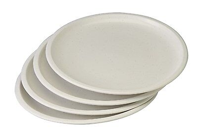 Set of 4 White Microwavable Plastic Plates - 10 Inch 4