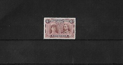 RHODESIA SG144, 6d RED-BROWN & MAUVE, LIGHTLY MOUNTED MINT, CAT £50