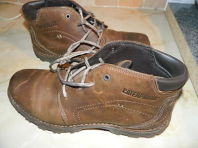 Mens Caterpillar Brown Leather Mid Boots size UK 10