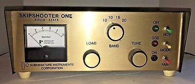 ~ Skipshooter One Solid State AMP Amplifier Subminiature Model BL 125 Ham Radio