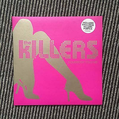 """The Killers Somebody Told Me Limited Edition 7"""" Pink Vinyl Single 2004 Hot Fuss"""