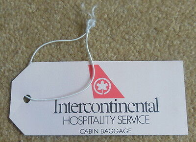 """Intercontinental """"Hospitality Service"""" Baggage Tag from 1980s"""