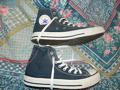 Converse All Star Hi Tops Size Uk 7 Blue Canvas