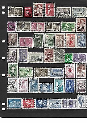 Finland Coll Of 45 Different 1939-1960 Used