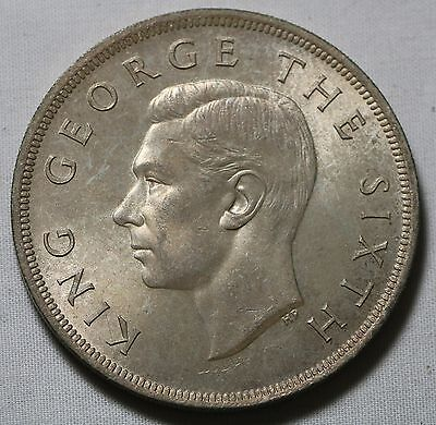 1949 New Zealand Crown Large Silver Coin HIGH GRADE