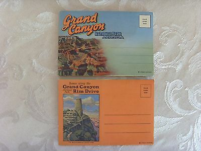2 Vintage Grand Canyon National Park Unused Fold Out Post Cards