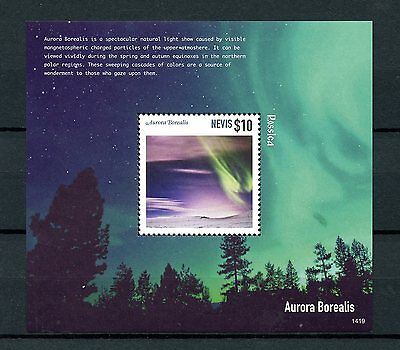 Nevis 2014 MNH Aurora Borealis Rossica 1v S/S Light Particles Science Stamps