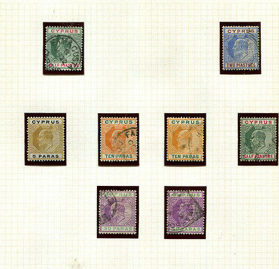 Cyprus Kevii Stamp Collection 1903 British Empire On Hingeless Page
