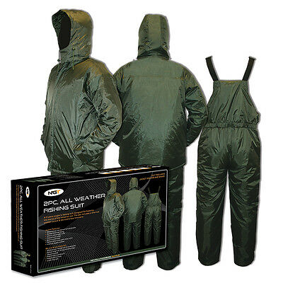 NEW NGT 2pc All Weather Waterproof Carp Fishing Hunting Thermal Suits M   XXXL