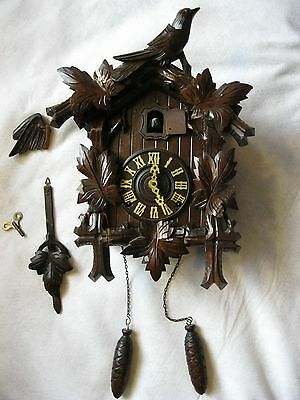 Antique German Black Forest Cuckoo Clock for Parts or Repair