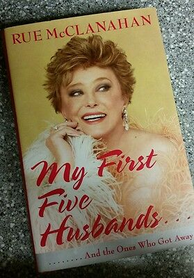 autographed rue mcclanahan book my first five husbands