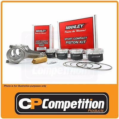 Manley Piston & H Beam Rod Set  MITS. 4G63T 7 BOLT 85.5 Bore / 88 Stroke -8 E-D