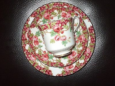 Royal stafford bone china olde English Garden trio cup saucer and tea plate