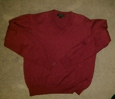 Mens V neck Calvin Klein jumper red