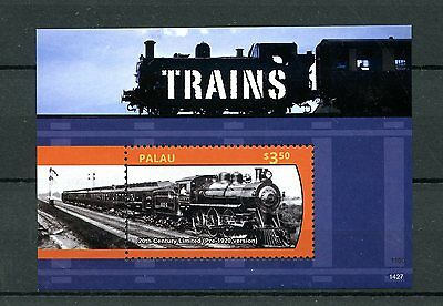 Palau 2014 MNH Trains 1v S/S Railways 20th Century Limited Locomotives Stamps
