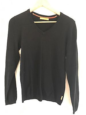 SOUL CAL - Black Cotton Jumper - Size Small (S) Mens - V Neck