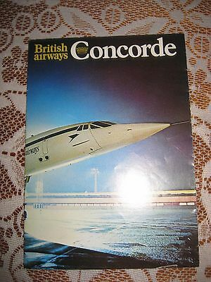 "Collectable B.a.concorde Information/factual Fold-Up Leaflet 6"" X 8"" Good Cond"