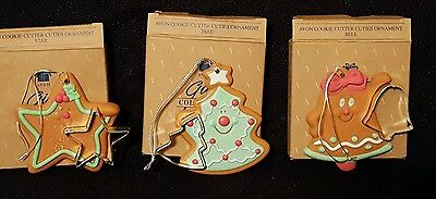 lot of 3 Avon Christmas Cookie Cutter Ornaments with original boxes