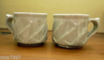 A pair of Japanese KASAMA MASHIKO ware MUGS by T Edward Sellen Free P&P
