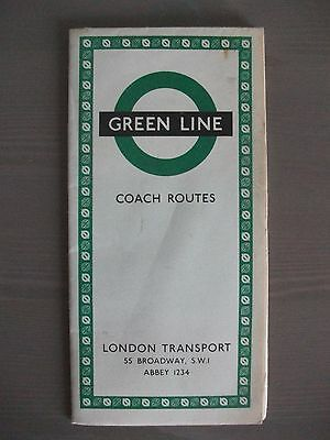 Green Line Coach Routes ~ London Transport ~ Published October 1961