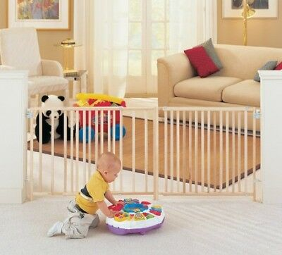 Child Safety Gate Supergate Extra Large Wide Swing Wood Kids Walk Dog Pet NEW