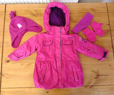 Girls Winter Ski Coat and accesories 18-24 months