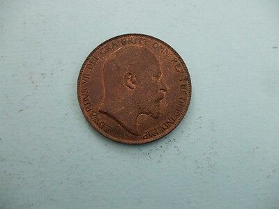 Edward Vii 1905 Penny With Lustre Very High Grade Coin.