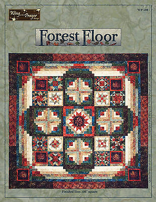 Forest Floor King Size Quilt Kit; WP180; Pattern & Fabric; Timeless Treasures