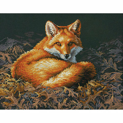 """Sunlit Fox Counted Cross Stitch Kit-14""""X11"""" 14 Count Brand New!"""