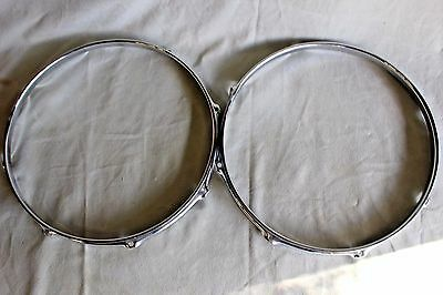 "Pearl Super Hoop 14"" Pair 8 Holes Good/exc Condition! Ships Super Fast! Bin!"