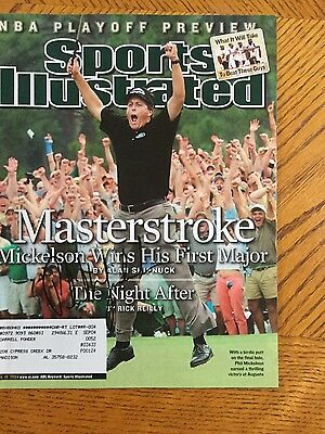 Phil Mickelson golf signed sports illustrated