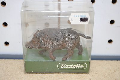 Elastolin by Preiser #5442 Wild Boar - Walking with Tail & Head Up *G-Scale* NEW
