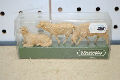 Elastolin by Preiser #5320 Assorted Sheep - Three Poses *G-Scale* NEW
