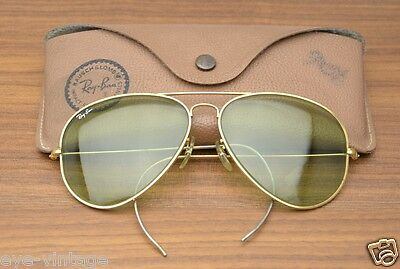 B&L Ray Ban Aviator Changeable Vintage Bausch Lomb Glass Brille Pilot Gatsby USA