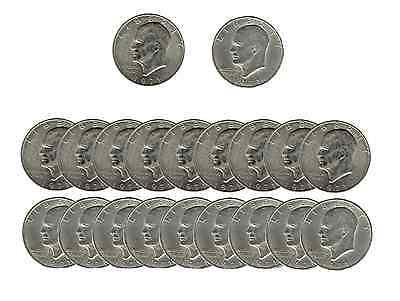 """(10D/10P) Lot of Eisenhower 1971 """"IKE"""" DOLLAR U.S. Coins """"Sock Drawer Condition"""""""