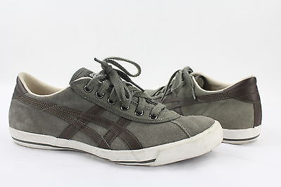 NEW Onitsuka Tiger Grey Suede Lace Up Fashion Sneaker Women's Size 7.5M RTL$70