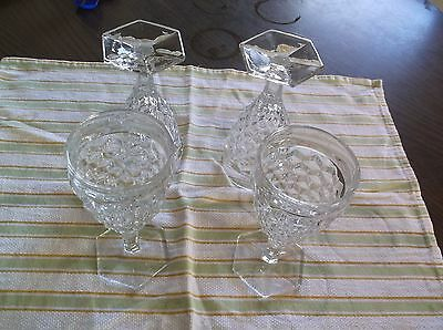 Early  American   Fostoria   Goblets   Set  Of  Four
