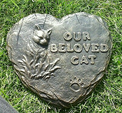 Our beloved cat  Large Pet Memorial/headstone/stone/grave marker/memorial