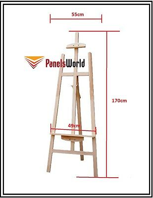 [Clearance] Pine Wood Easel Craft Painting Shop Display Frame Stand 170cm