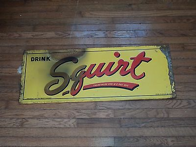 VINTAGE Drink  SQUIRT sign rare 1940s