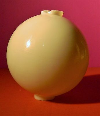"Antique 4 1/2"" Milk Glass Lighting Rod Ball"